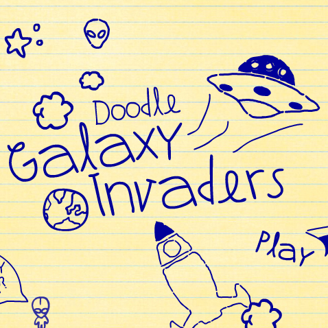 Game Sound Designer, Coder &#038; Programmer:<br>Doodle Galaxy Invaders &#8211; Sound Design for Game
